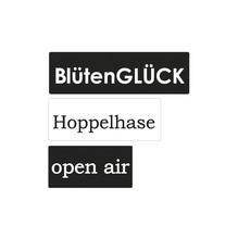 Labels openair,Hoppelhase,Blütenglück, 3x1,5cm,4x1,5cm,5x1,5cm, SB-Btl 3Stück