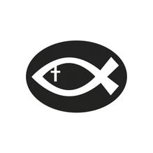 Label Christlicher Fisch, 5,2x3,7cm, SB-Btl 1Stück