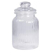 Vorratsglas, gerillt, 11cm ø, 18,5cm, mit Deckel, 925ml