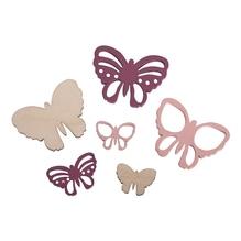 Holz-Streuteile Schmetterling, FSC 100%, 2-4x1,5-3cm, gelasert, SB-Btl 17Stück