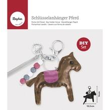 Bastelpackung: Schlüsselanhänger Pferd, 10,5x14cm, SB-Btl. 1Stück