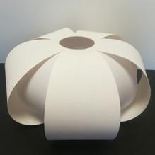 Ausgefallenes Textil Lampenschirm E27 Stoffschirm weiß