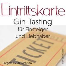 Gin-Tasting - Eintrittskarte