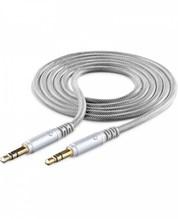 Unique Design Aux-Kabel (1m) Klinkenkabel silber