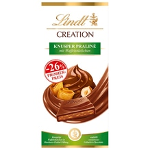 Lindt 'Creation Knusper Praliné' Schokolade (Aktion), 150g